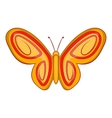 Summer butterfly icon cartoon style vector image