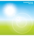 Summer sun lens flare background vector image vector image