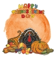 Thanksgiving dayWatercolor splashDoodle harvest vector image vector image