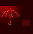 umbrella opened from the rain from futuristic vector image