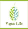 vegan life - plant based lifestyle vector image vector image