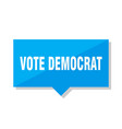vote democrat price tag vector image vector image