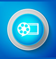white film reel and play video movie film icon vector image vector image