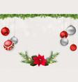 xmas background with xmas balls and decorations vector image vector image