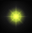 yellow glowing light glitter vector image