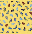 yellow pattern with butterfly vector image vector image