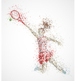 Abstract tennis player vector image