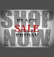 black friday sale shop now percent vector image