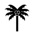 black icon beach palm cartoon vector image vector image