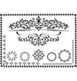 Black ornamental frame vector image vector image