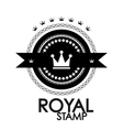 Black retro vintage label tag badge royal stamp vector image