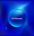 blue liquid color background design fluid vector image