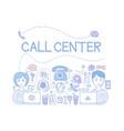 call center customer service theme vector image vector image