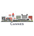 cannes france city skyline with gray buildings vector image vector image