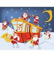 Christmas Santa Claus Music Band vector image
