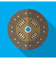 Colorful car clutch plate disk icon in modern flat vector image vector image