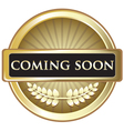 Coming Soon Gold Award vector image