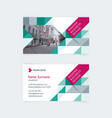 creative business card template vector image vector image
