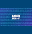 cyber monday abstract technology background vector image vector image
