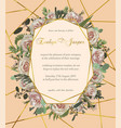 design watercolor geometric golden frame on a vector image
