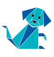 Dog origami style vector image