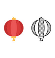 drum lantern icon set chinese traditional vector image vector image