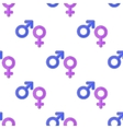 Female Male Symbols Seamless Pattern vector image