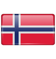 Flags Norway in the form of a magnet on vector image