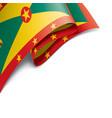 grenada flag on a white vector image