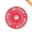 Grunge limited edition rubber stamp - - EPS vector image vector image