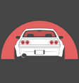 japan sport car on red sun background vector image vector image