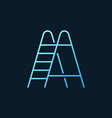 ladder blue outline icon - stepladder vector image