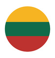 Lithuania flag vector image