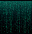 matrix texture with digits binary code abstract vector image vector image