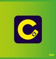 modern professional logo monograma c in green vector image vector image
