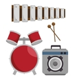 music festival set instruments vector image vector image