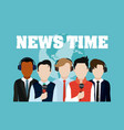 news time cartoons vector image