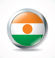 Niger flag button vector image vector image