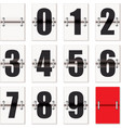 number flaps counter vector image