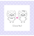 owls in love vector image vector image