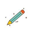 pencil school icon design vector image