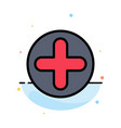 plus sign hospital medical abstract flat color vector image vector image