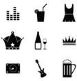 prom icon set vector image