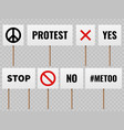 protest banners posters for protester people on vector image