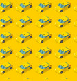 public taxi car seamless pattern cab on yellow vector image vector image
