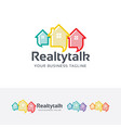 real estate consulting logo vector image vector image