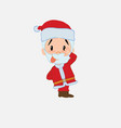 santa claus sticks out his tongue in gesture of vector image vector image