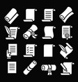 scrolls and papers classic icon set vector image vector image