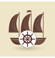 sea flat icon design vector image vector image