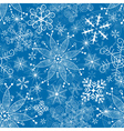 Seamless christmas blue pattern vector image vector image